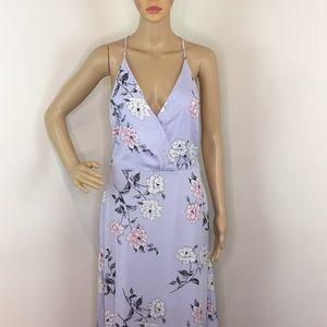 Lush Purple Floral Maxi Dress